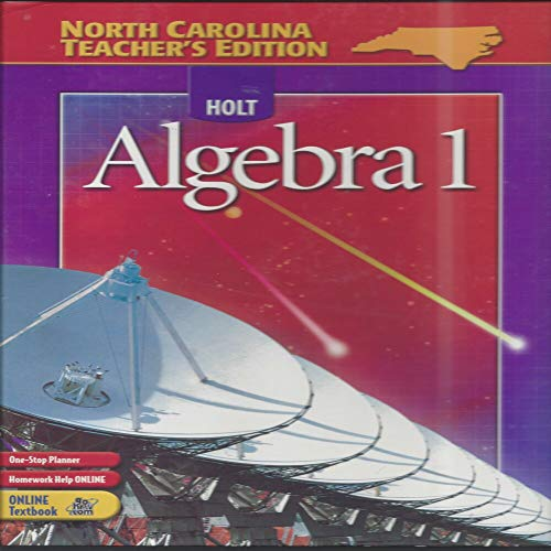 9780030701337: Holt Algebra 1 (North Carolina Teacher's Edition)