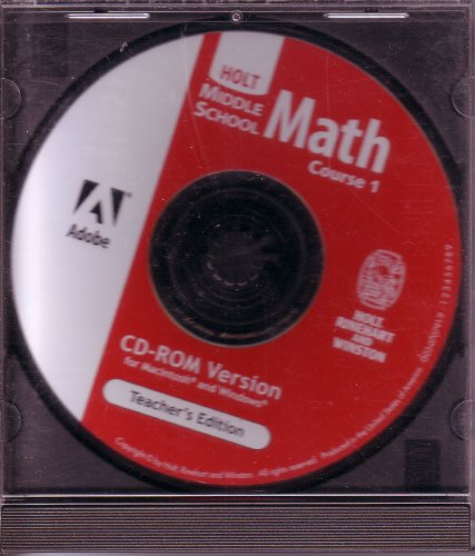 9780030707919: Holt Middle School Math Course 1 Teacher's Edition CD-ROM