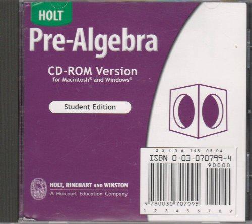 9780030707995: Holt Pre-Algebra: Student Edition CD-ROM Pre-Algebra 2004