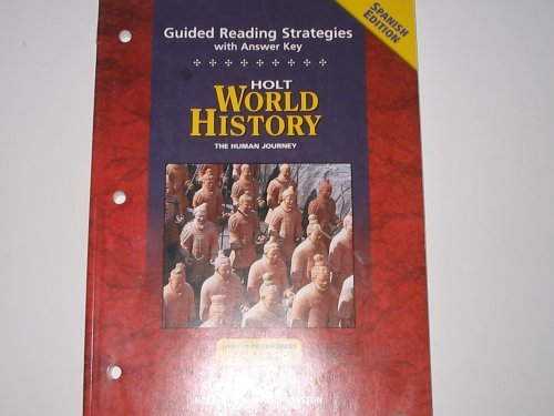 9780030708848: World History, Grades 9-12 Human Journey Guided Reading Strategies with Answer Key: Holt World History Human Journey (Spanish Edition)