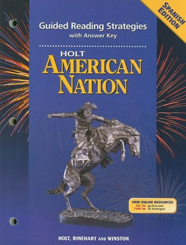 9780030708916: Holt American Nation Guided Reading Strategies with Answer Key, Spanish Edition