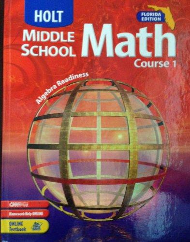 9780030709777: Holt Middle School Math Course 1 Florida Edition: Algebra Readiness