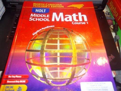 9780030709920: NC Te W/NC Te CD-R MS Math 2004 Crs 1