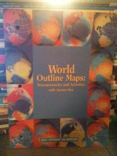 9780030709937: World Outline Maps: Transparences and Activities with Answer Key