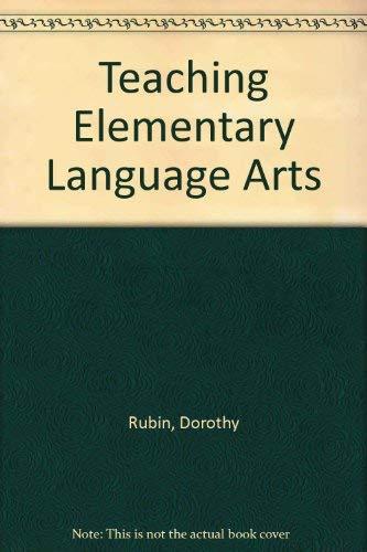9780030710421: Teaching Elementary Language Arts