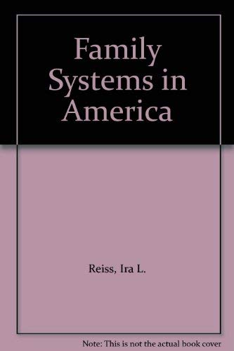 9780030711138: Family Systems in America
