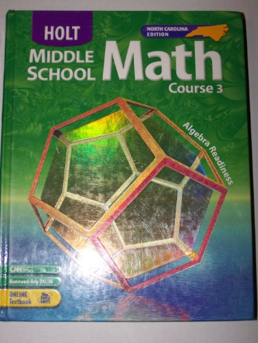 9780030711411: Holt Middle School Math, Course 3: Algebra Readiness
