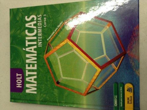 9780030711435: Math Course 3, Grade 8: Holt Mathematics