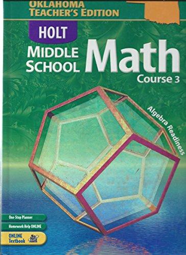 9780030711534: Holt Middle School Math, Course 3, Oklahoma