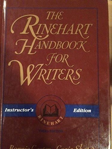 9780030711671: The Rinehart Handbook for Writers