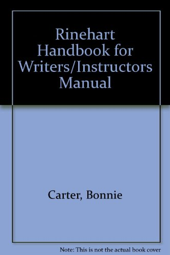 9780030711688: Rinehart Handbook for Writers/Instructors Manual