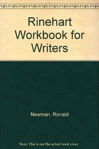 9780030711695: Rinehart Workbook for Writers