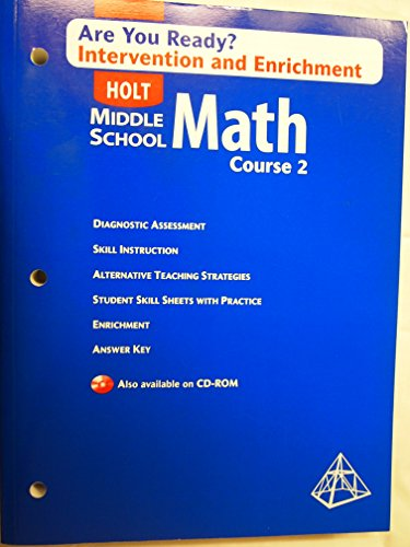 9780030712333: Are You Ready?: Intervention and Enrichment, Course 2 with Answer Key (Holt Middle School Math)