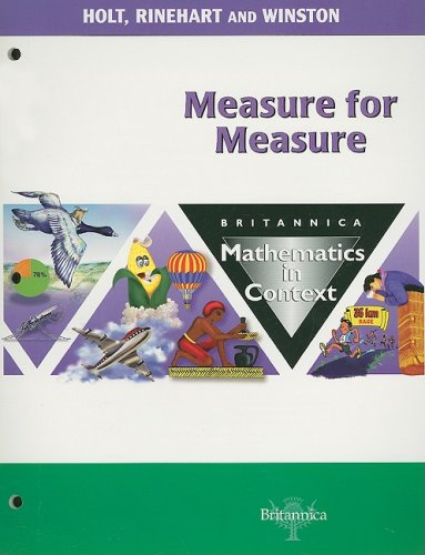 9780030712814: Holt Math in Context: Student Edition Measure For Measure Grade 5 2003