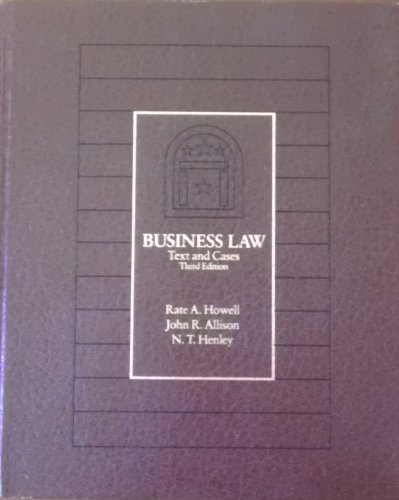 9780030713279: Business Law: Text and Cases