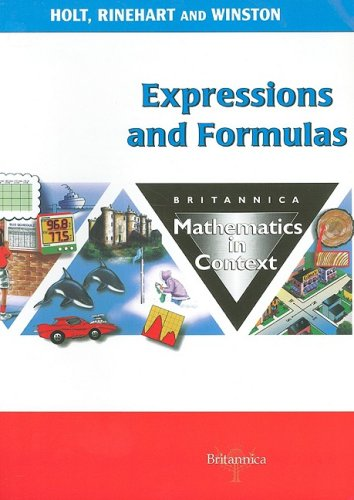 9780030714443: Holt Math in Context: Student Edition Exprsn/Formulas Grade 6 2003 (Britannica Math in Context)