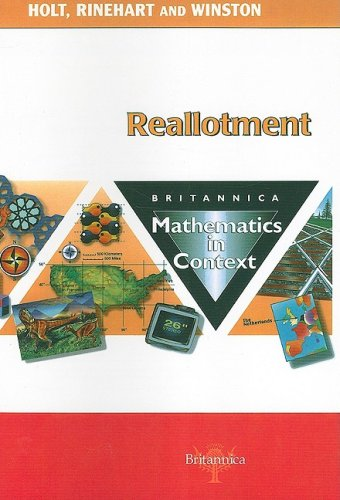 9780030715112: Reallotment: Britannica Mathematics in Context (Britannica Math in Context)