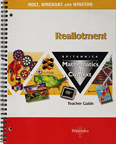 9780030715129: Tg Reallotment Math/Context 2003 G 6