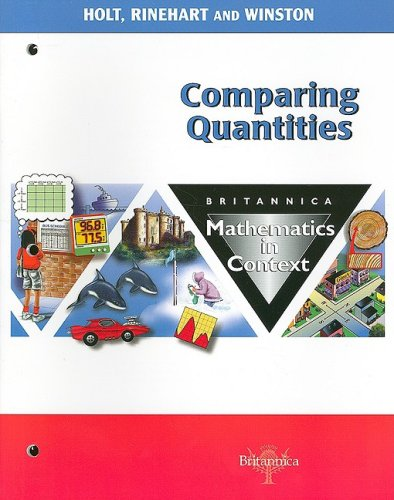 9780030715167: Holt Math in Context: Student Edition Comparing Qty Grade 6 2003 (Math in Context 2003)