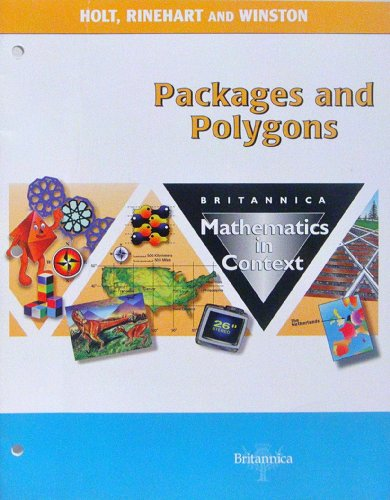 9780030715273: Holt Math in Context: Student Edition Packages & Polygons Grade 7 2003 (Britannica Math in Context)