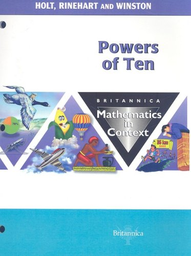 9780030715297: Holt Math in Context: Student Edition Powers Of Ten Grade 7 2003