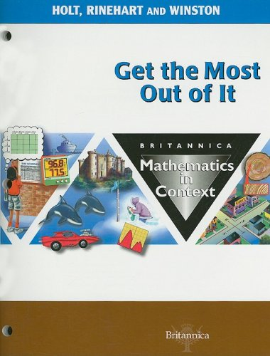 9780030716232: Holt Math in Context: Student Edition Get The Most Grade 8 2003 (Math in Context 2003)