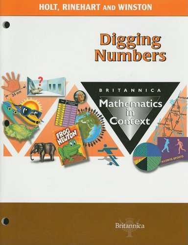 Holt Math in Context: Student Edition Digging Grade 8 2003: HOLT, RINEHART AND WINSTON