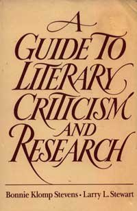 9780030719646: Guide to Literary Criticism and Research