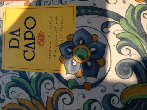 9780030722325: Da Capo: An Italian Review Grammar/Book & Cassette