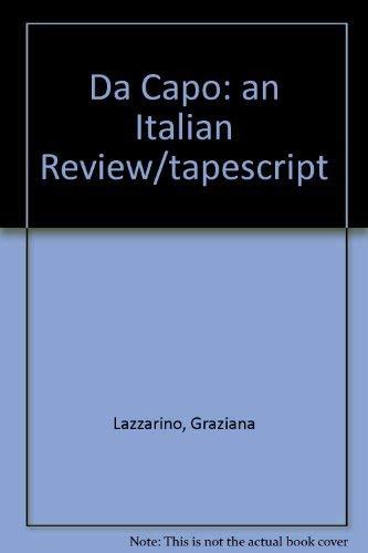 9780030723124: Da Capo: An Italian Review/Tapescript