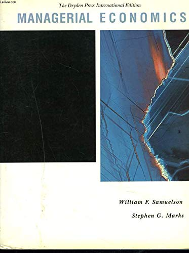 Managerial Economics: William F. Samuelson
