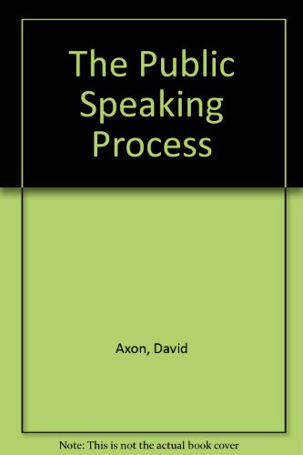 9780030724732: The Public Speaking Process
