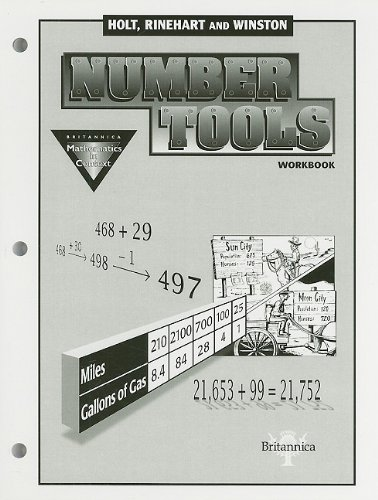 9780030725821: Holt Math in Context: Student Edition Number Tools Wkbk