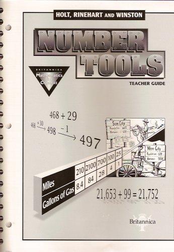 9780030725838: Number Tools: Teacher's Guide (Britannica Mathematics in Context)