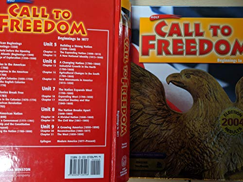 9780030726996: Holt Call to Freedom: Beginnings to 1877: Student Edition 2005