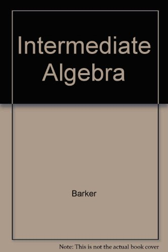 9780030728587: Intermediate Algebra