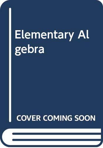 9780030728815: Elementary Algebra