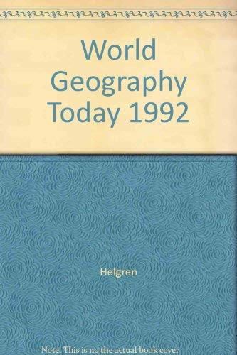 9780030729041: World Geography Today Teacher Edition