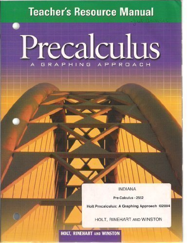9780030730535: Precalculus: A Graphing Approach