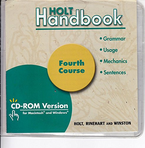 Holt Handbook, Fourth Course, Grade 10: CD-ROM