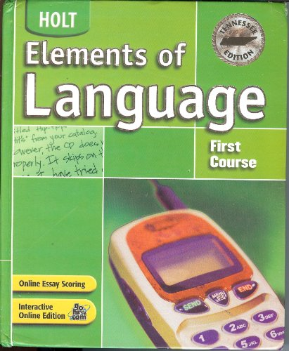 9780030732133: Holt Elements of Language Tennessee: Student Edition Grade 7 2004 (Elements of Language 2004)
