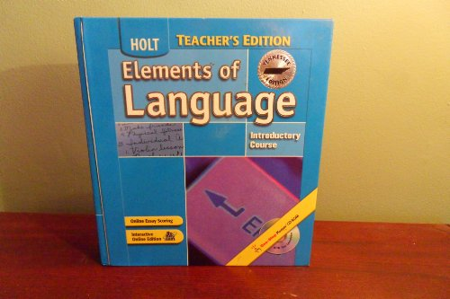 9780030732218: Elements of Language - Introductory Course