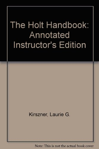9780030733345: The Holt Handbook: Annotated Instructor's Edition