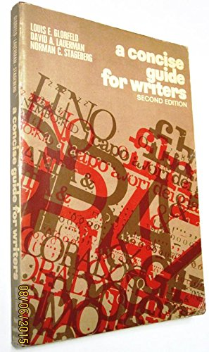 9780030733758: Concise Guide for Writers