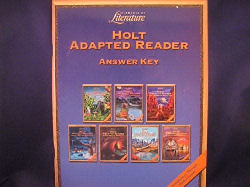 Elements of Literature : Holt Adapted Reader Answer Key