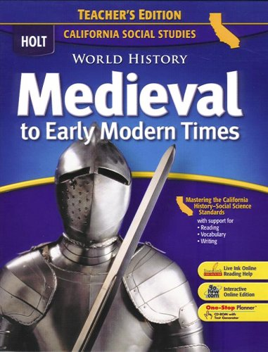 9780030734021: World History:Medevl-Early Mod Times (CA) (TE)