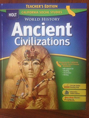 9780030734625: Ancient Civilizations Teacher's Edition California Social Studies