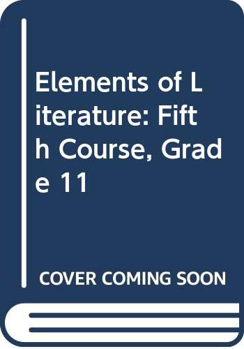 9780030738494: Elements of Literature: Fifth Course, Grade 11