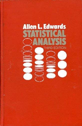 9780030738609: Statistical Analysis