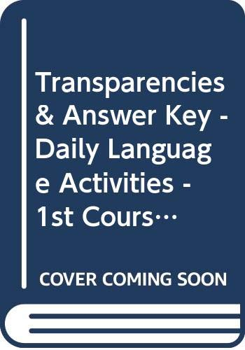 9780030738722: Transparencies & Answer Key - Daily Language Activities - 1st Course (Holt Elements of Literature)